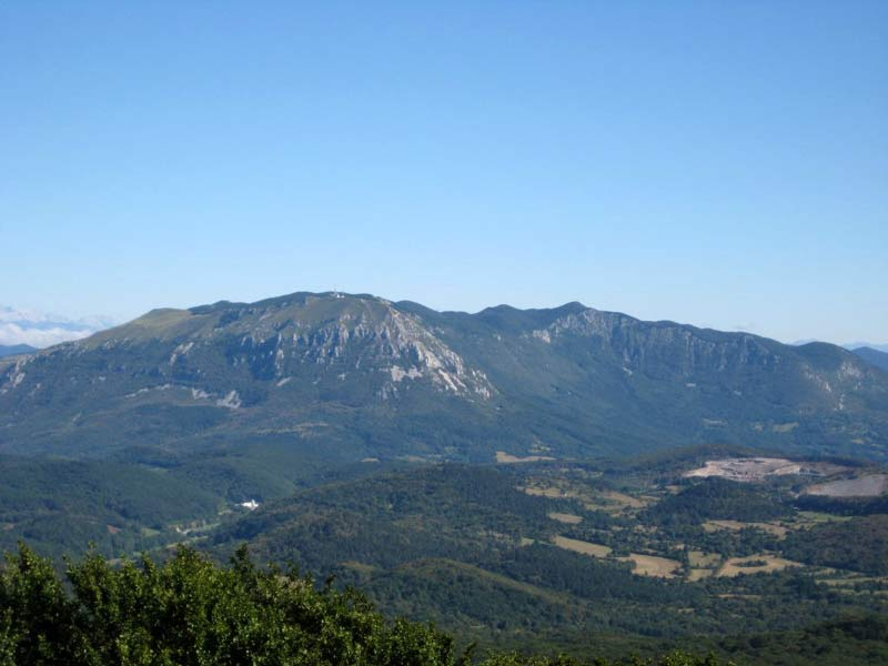 View of the mountain Nanos